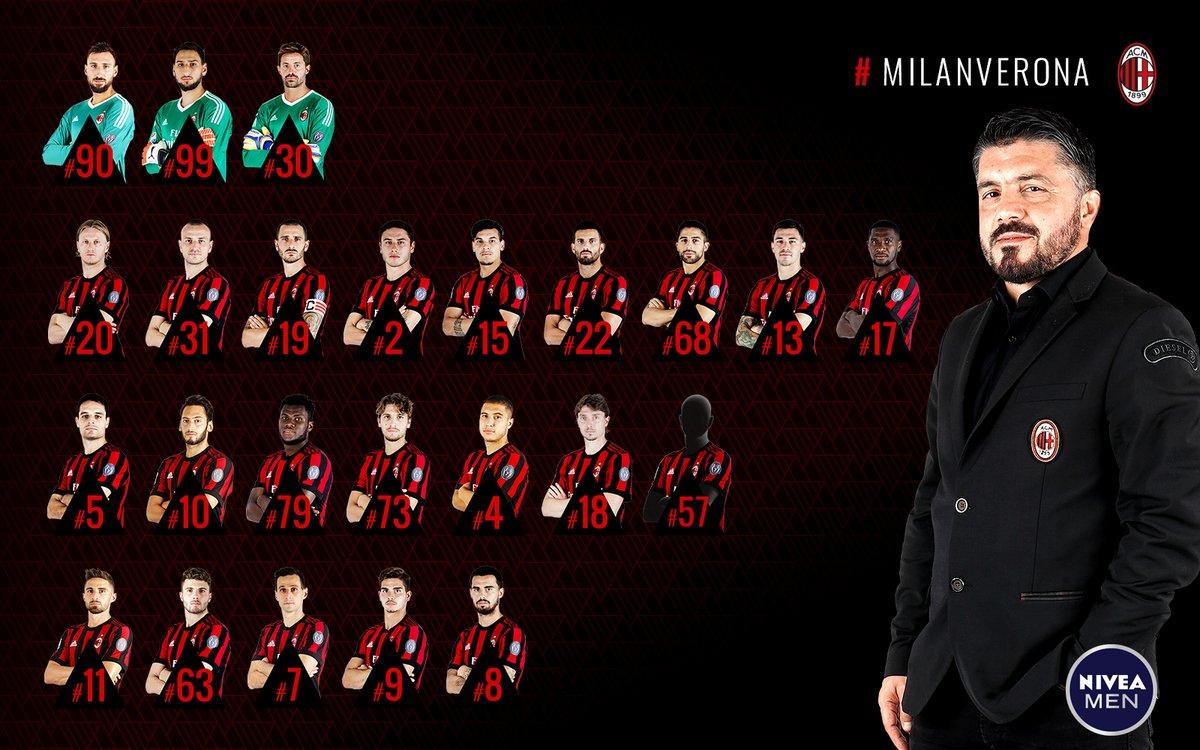 米兰对阵维罗纳大名单:罗马尼奥利伤愈归队