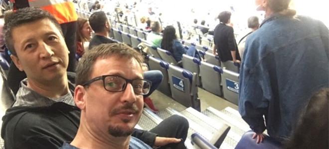 郭士强与助教现身皇家马德里篮球队主场观战