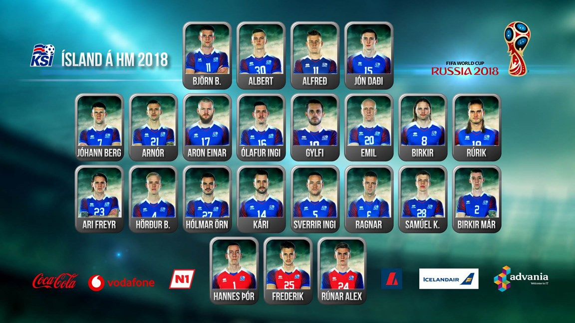 冰岛队世界杯23人预选名单:大狙领衔,五大联赛共4人
