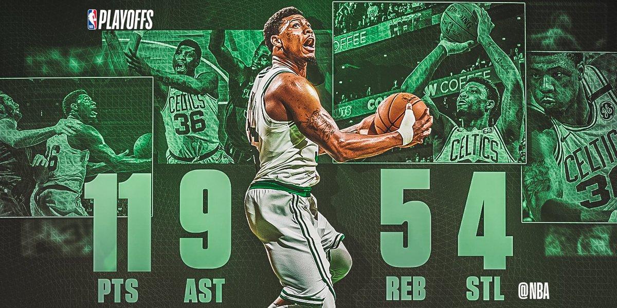 NBA官方评选最佳数据:斯马特11+5+9+4当选
