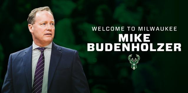 官方:雄鹿正式任命迈克-布登霍尔泽为新任主帅