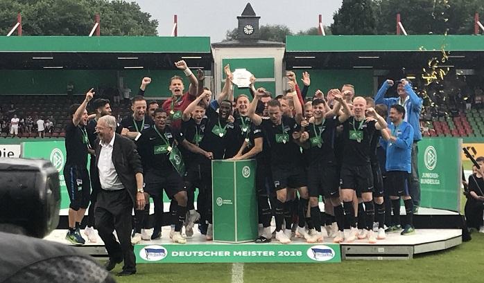 柏林赫塔U19击败沙尔克,获得德国青年联赛冠军