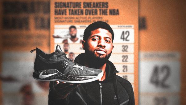 NBA球员比赛中最常穿的球星签名鞋?PG1代