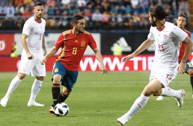 热身赛:奥德里奥索拉破门斩获处子球,西班牙1-1瑞士