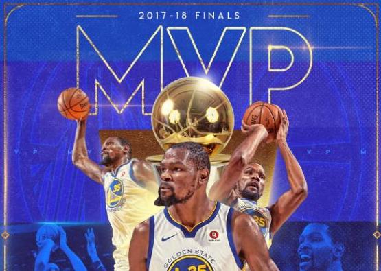 连庄FMVP!杜兰特当选2017-18赛季总决赛MVP