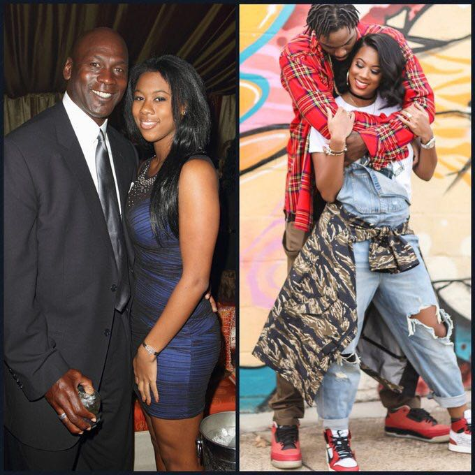 前NBA球员拉基姆-克里斯马斯与乔丹女儿订婚