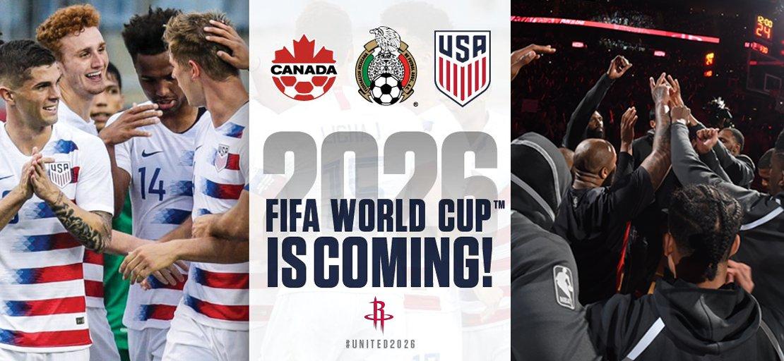 火箭官推祝贺北美三国获世界杯主办权
