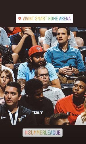 重返盐湖城!卢比奥晒出自己观看夏季联赛的照片
