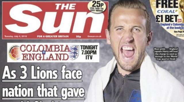 再惹众怒,太阳报封面将凯恩与哥伦比亚毒品相提并论