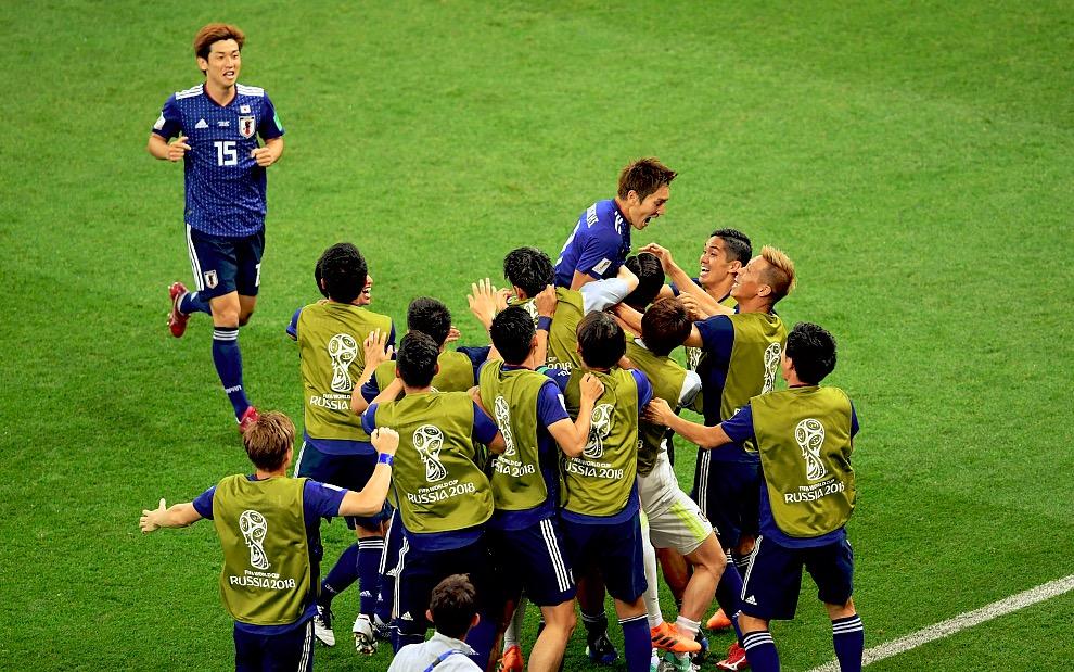 GIF:日本领先!原口元气长驱直入劲射破门