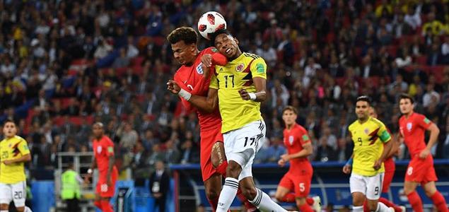 半场:双方破门乏术,哥伦比亚0-0英格兰