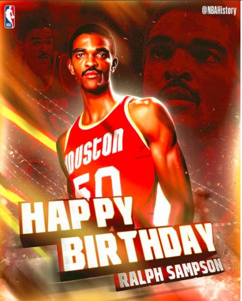 NBA官方祝拉尔夫-桑普森58岁生日快乐