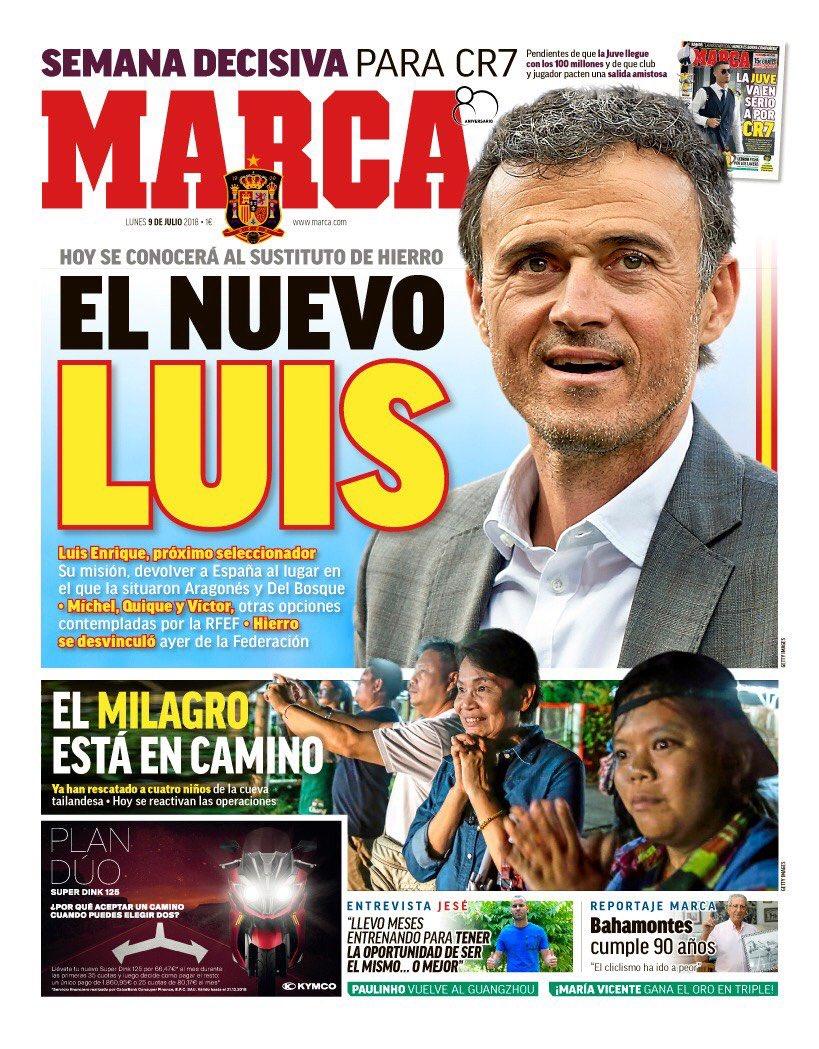 马卡报:路易斯-恩里克将成为西班牙主教练