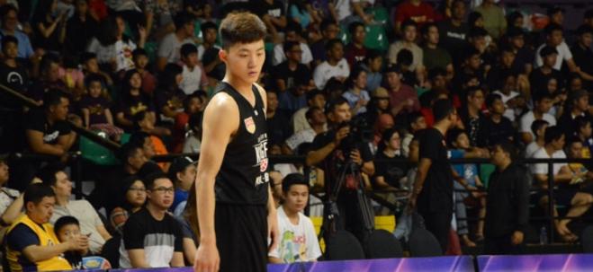 广州在第十二顺位选中来自广青的田宇恒