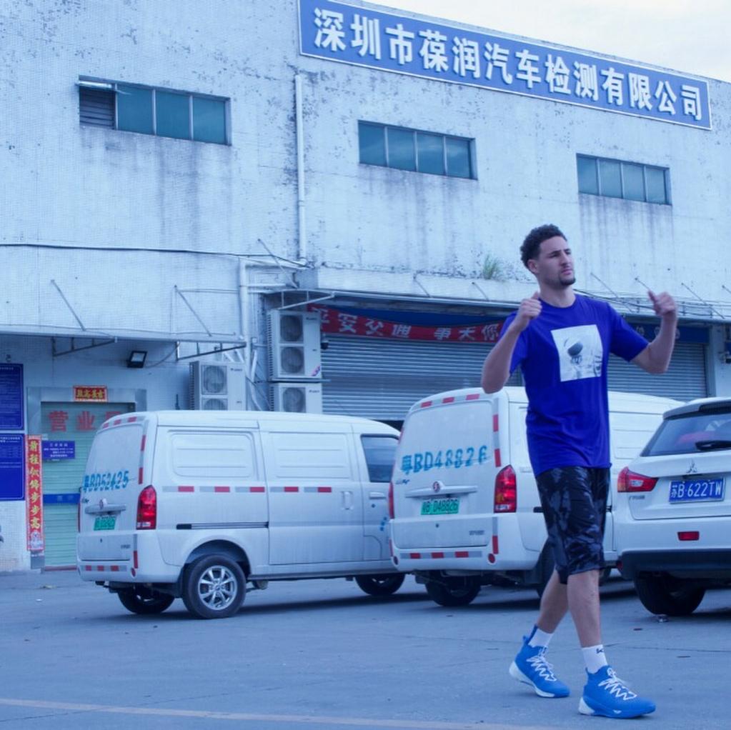 幕后花絮!克莱为球鞋赞助商拍摄广告宣传片