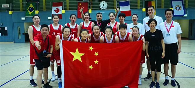 八一女篮问鼎国际军体篮球世锦赛