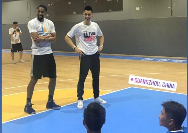 故人相遇!丁威迪在林书豪篮球学校举办训练营