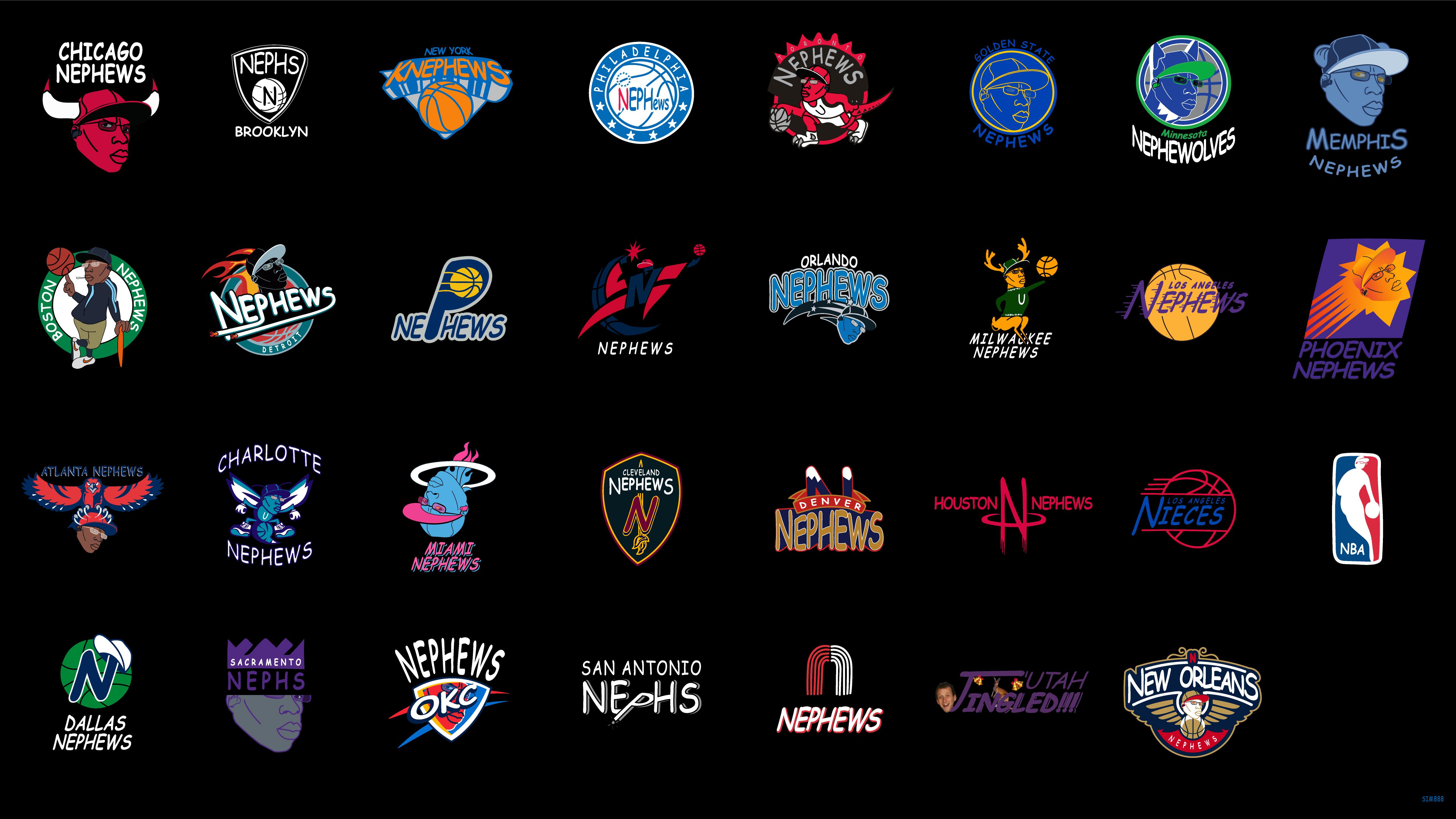 有才!美国网友重新设计NBA30支球队队标