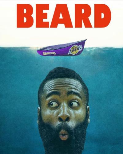 胡子水怪?火箭官方发布新赛季对趣味海报