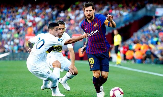 甘伯杯:梅西传射马尔科姆破门,巴萨3-0博卡青年