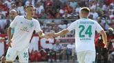 埃格施泰因兄弟德国杯同时进球,创造不莱梅队史纪录