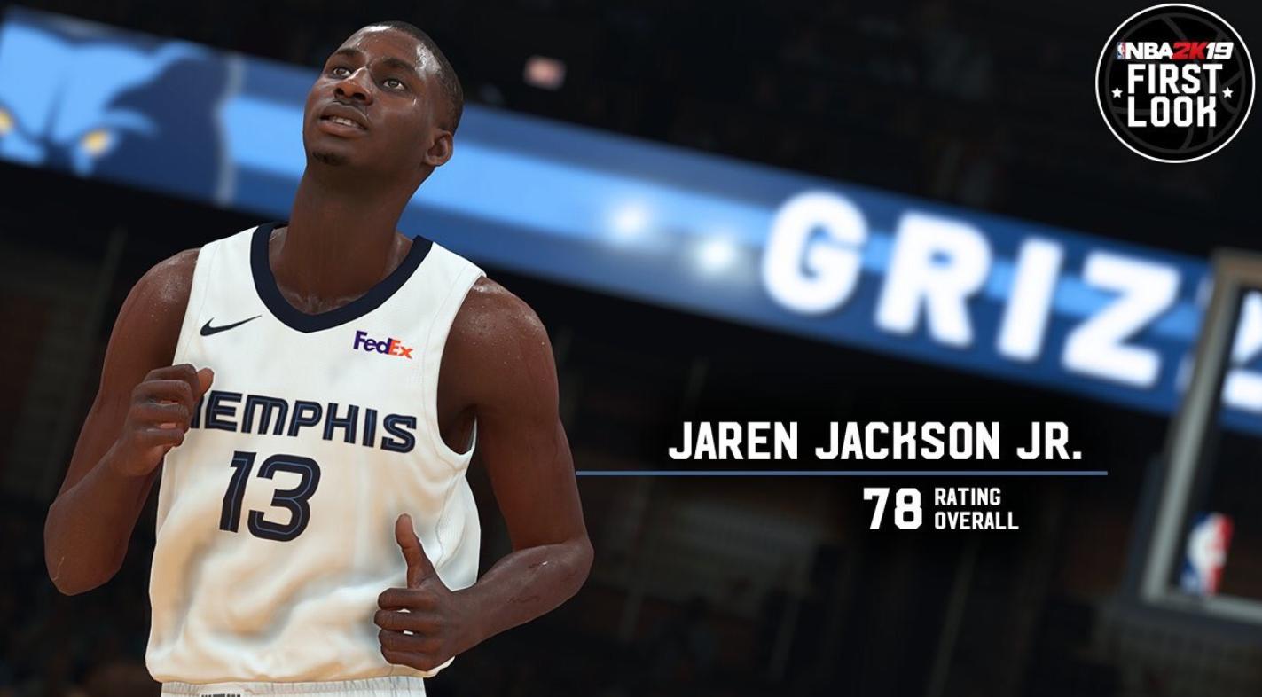 值78能小贾伦-杰克逊发布本身的2K才