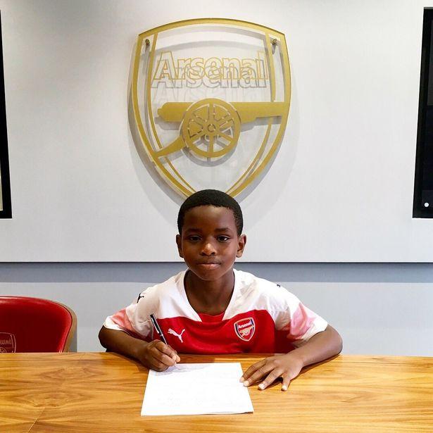 阿森纳签下 9岁非洲小将, 小朋友偶像为伊沃比
