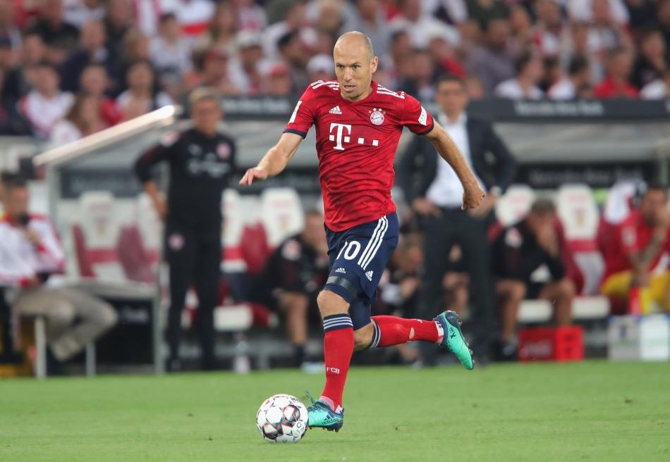 罗本打进拜仁生涯第 140球, 追平埃尔伯成队史第 7射手