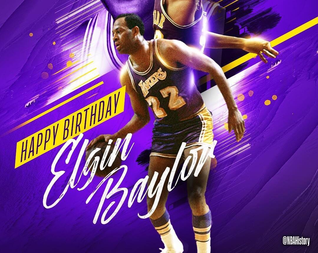 NBA官方祝埃尔金-贝勒84岁生日快乐