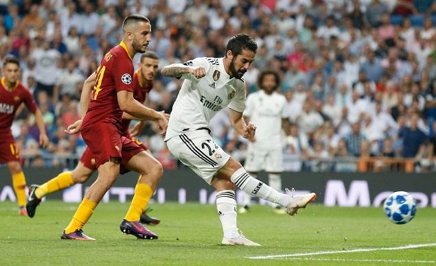 欧冠:伊斯科贝尔马里亚诺破门,皇马3-0罗马