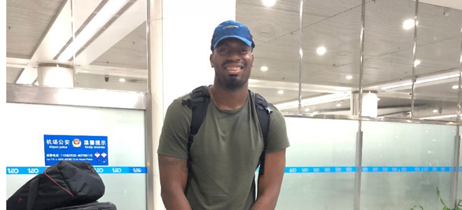 达卡里-约翰逊抵达青岛,新赛季球员全部到位