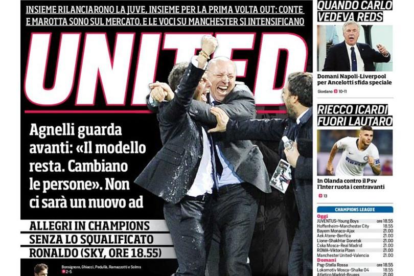 罗马体育报:马洛塔和孔蒂有可能在曼联再度合作