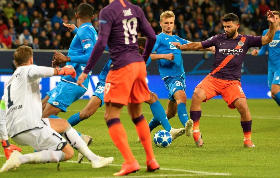范尼后首人!阿圭罗已连续5个欧冠客场破门