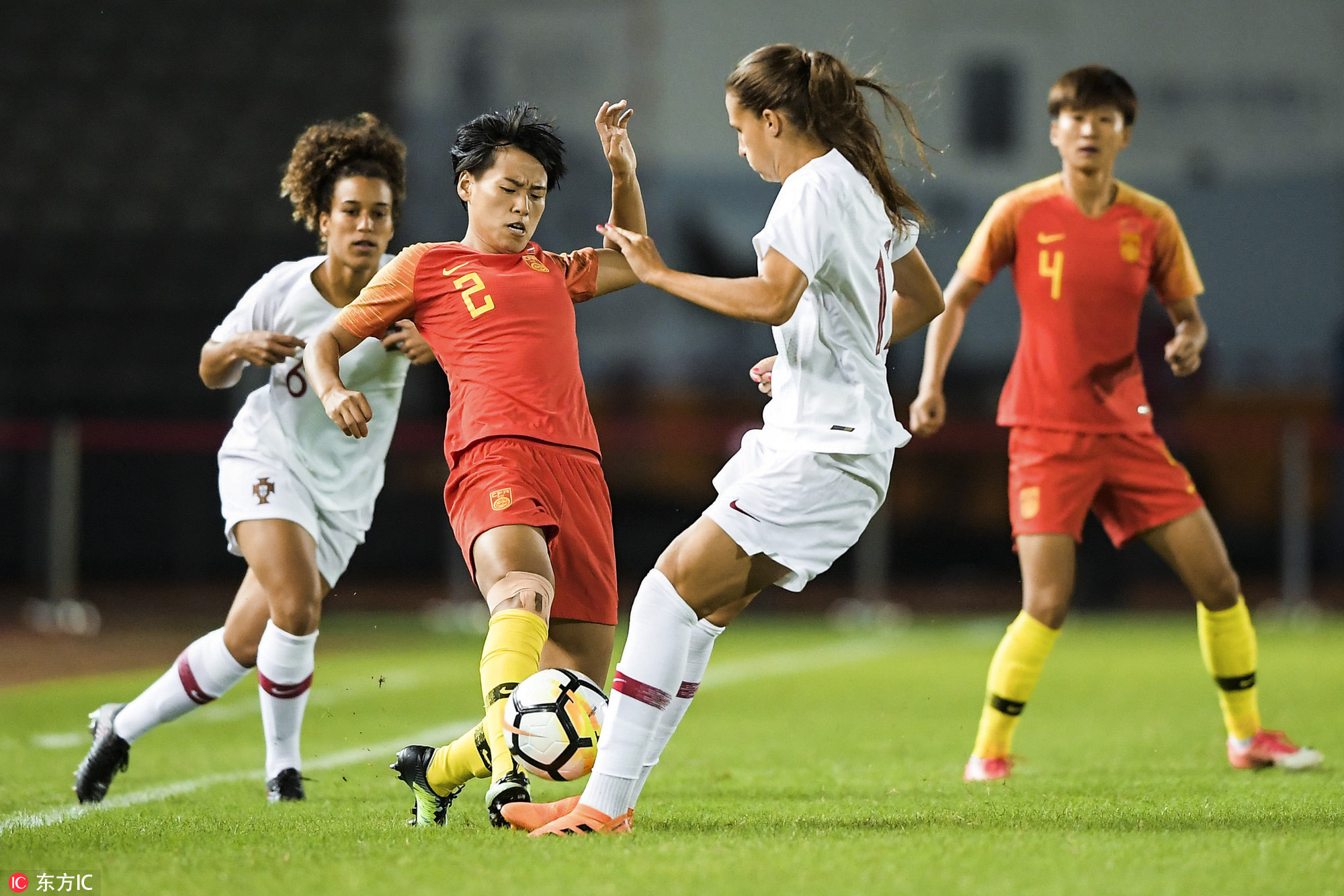 永川国际女足赛:中国0-0葡萄牙,门柱拒古雅沙射门