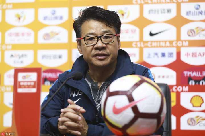 吴金贵:球员们努力执行赛前计划,瓜林对申花至关重要