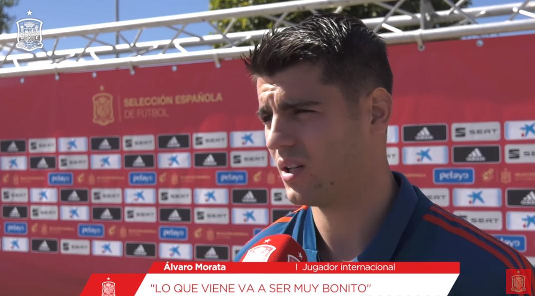 莫拉塔:主场迎战英格兰期待得到西班牙球迷们的支持