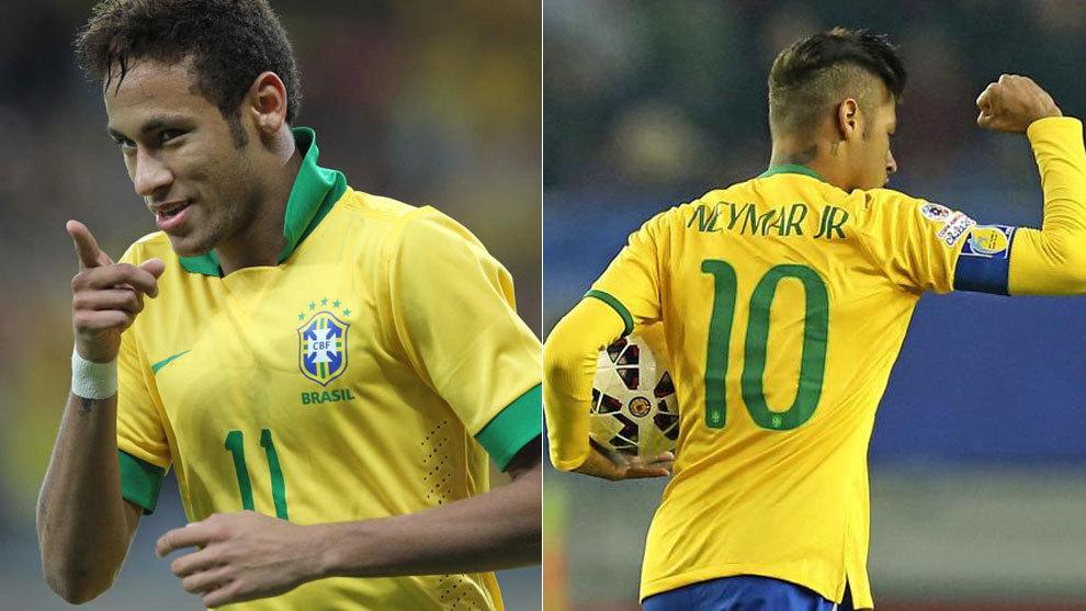 内马尔:本想选择巴西7号,阿尔维斯叫我穿10号