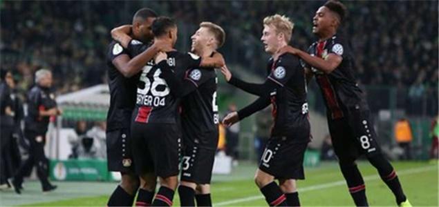 德国杯综述:药厂5球大胜门兴,莱比锡沙尔克不莱梅晋级