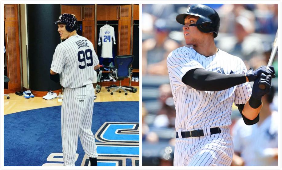 双胞胎石锤了?阿龙-戈登扮成棒球运动员阿龙-贾奇