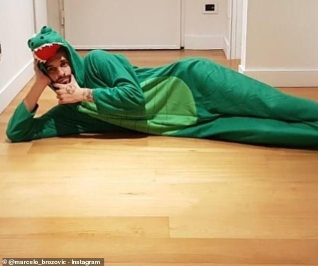 玩梗大师, 布罗佐维奇扮鳄鱼调侃自己任意球防守