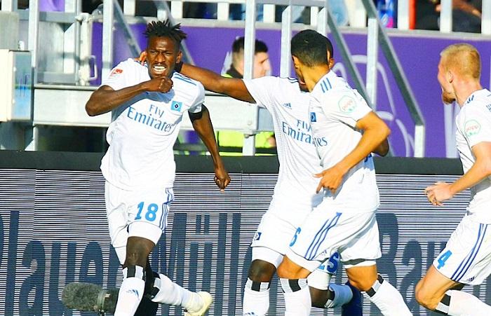 难民小将贾塔职业生涯首球, 汉堡继续排名德乙榜首