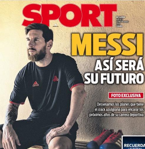 每体头版列梅西未来计划:重夺欧冠和金球, 打破所有纪录