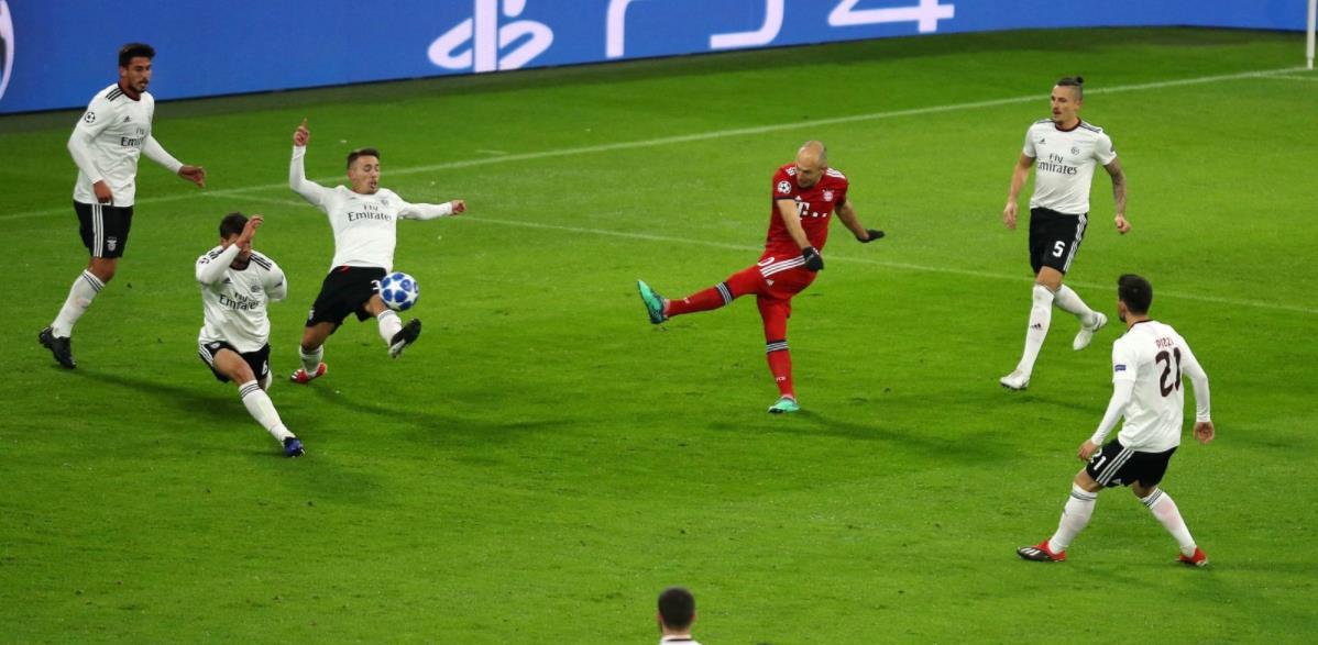 拜仁欧冠总进球达到450球,仅次于皇马巴萨