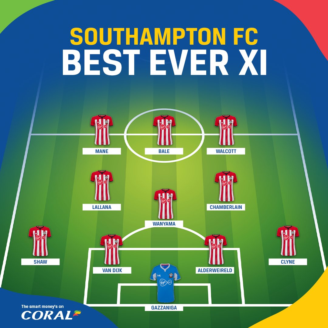 现役前南安普顿球员最强11人:利物浦5人、热刺3人