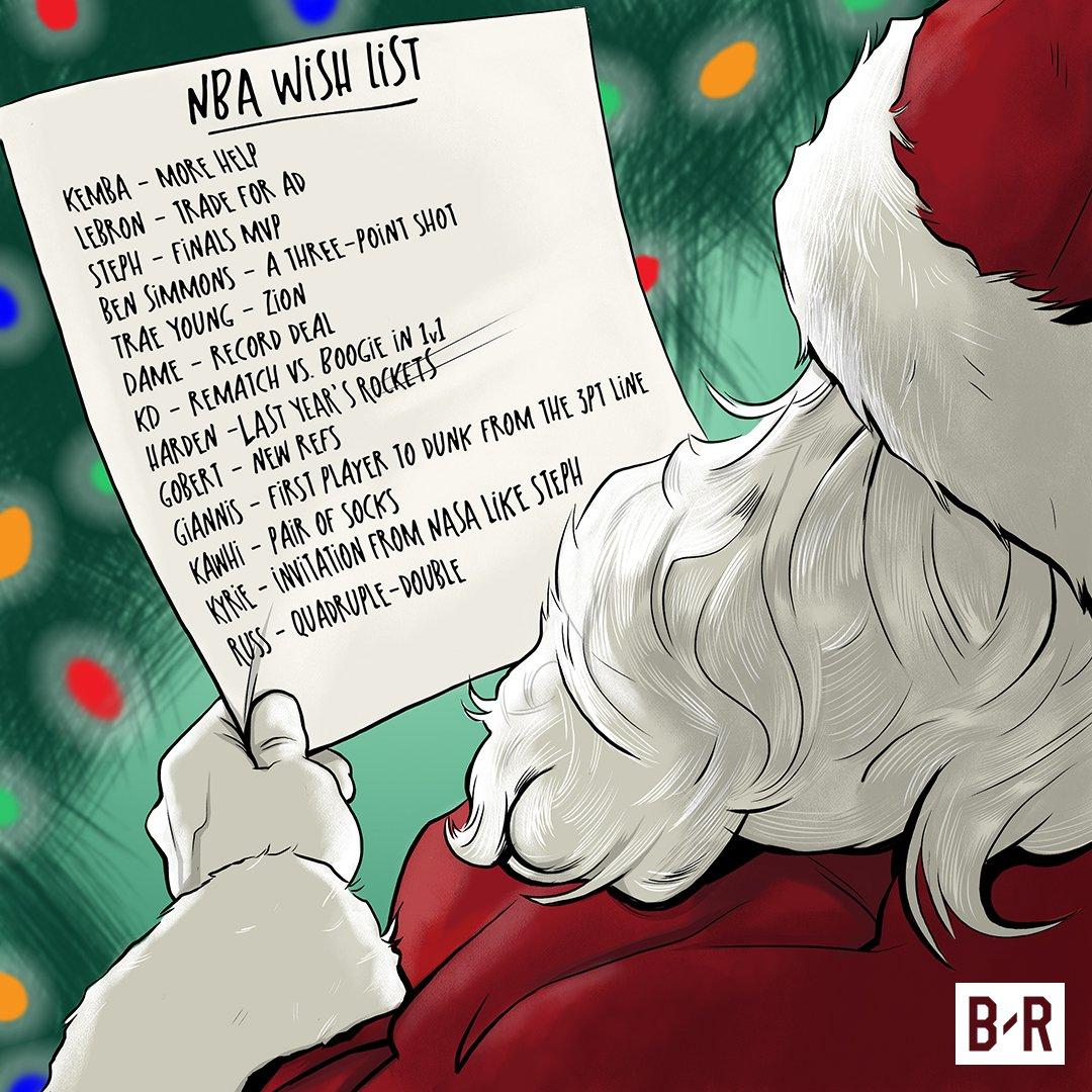 """这些梗你都懂吗?媒体拟出NBA球员的""""圣诞愿望"""""""