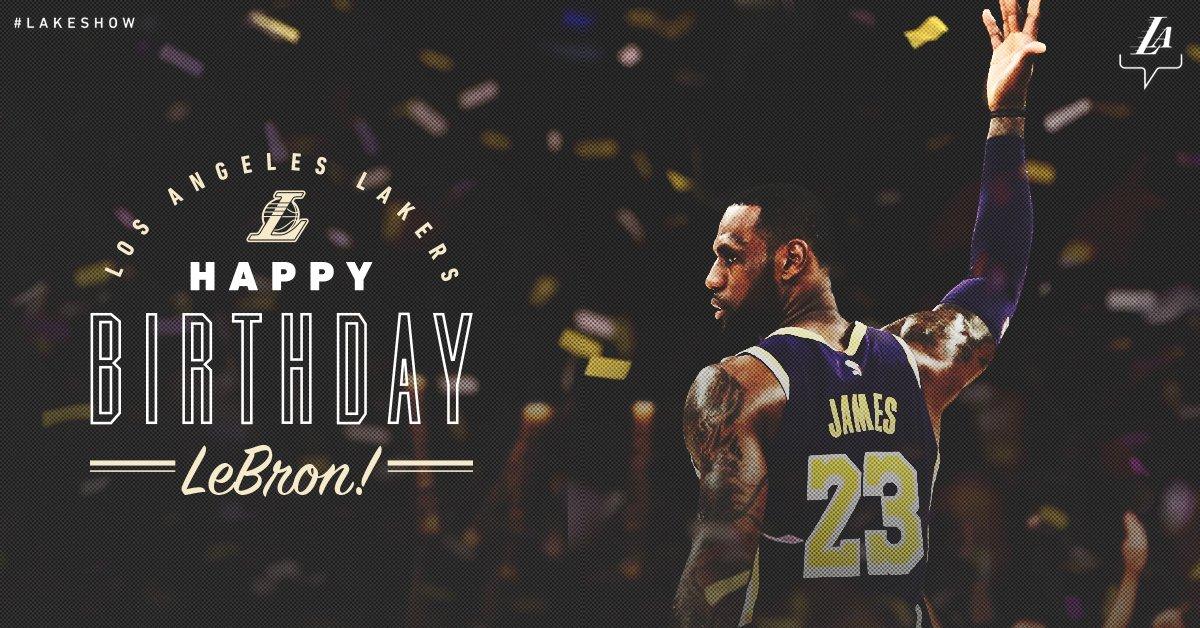 湖人官方祝詹姆斯生日喜悦:这是一个盛大的生日!