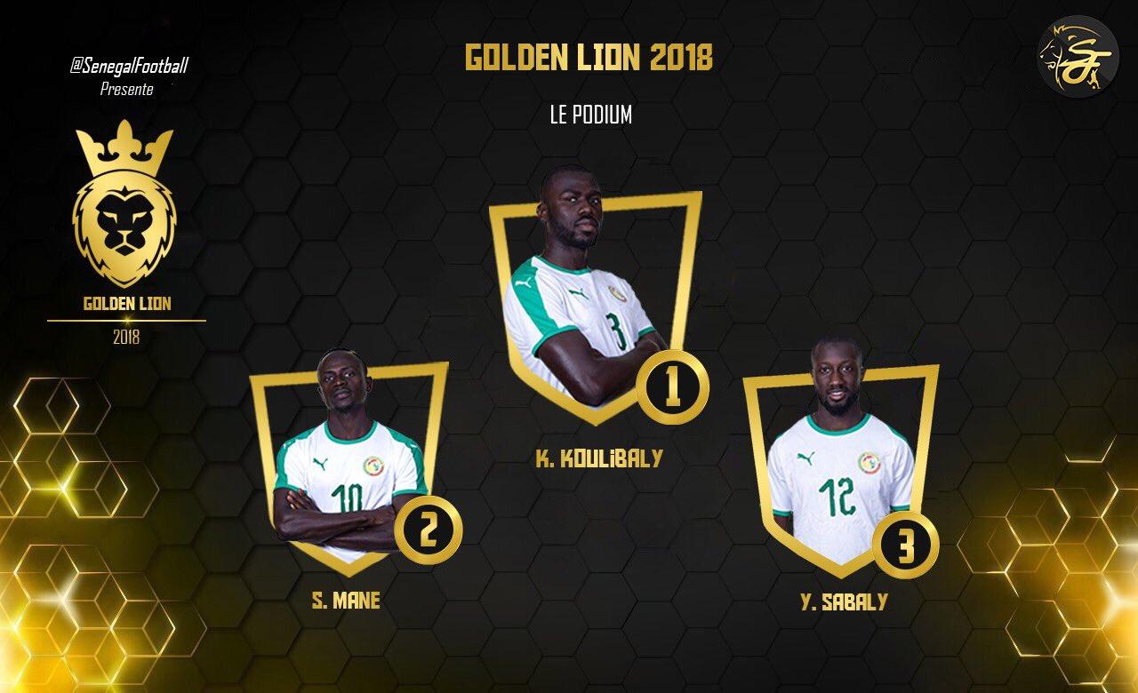 官方:库利巴利当选塞内加尔队年度MVP,马内列第2