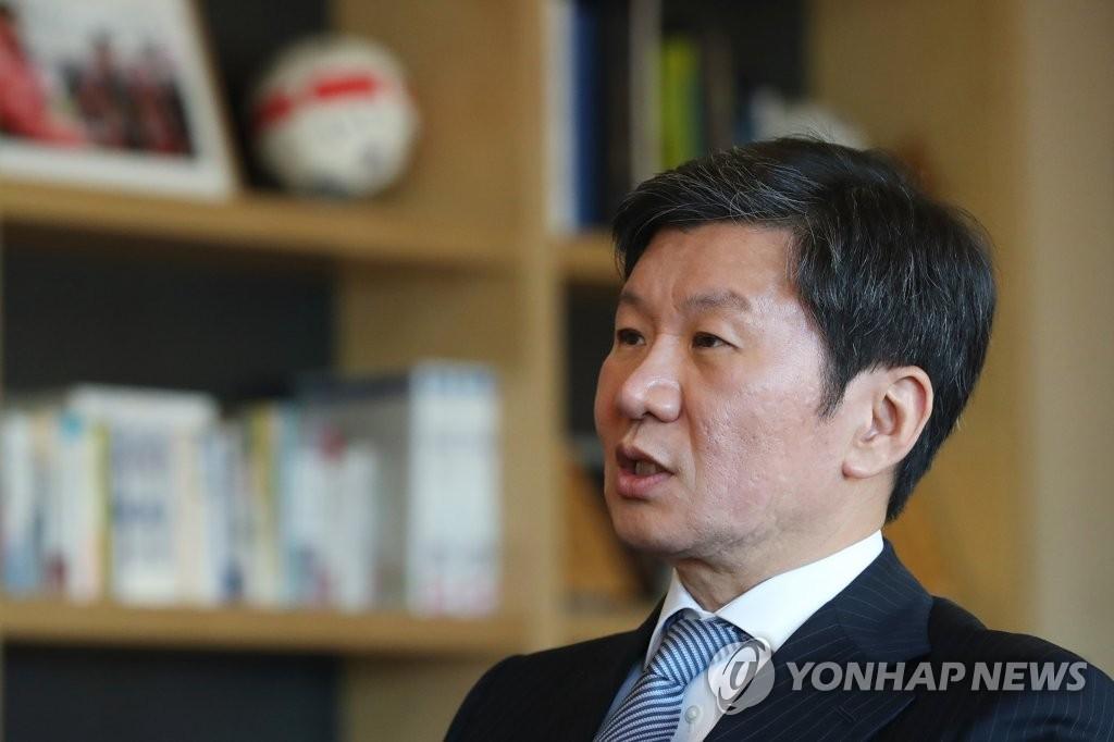 郑梦奎:希望韩国亚洲杯夺冠,说服中日共同申办世界杯