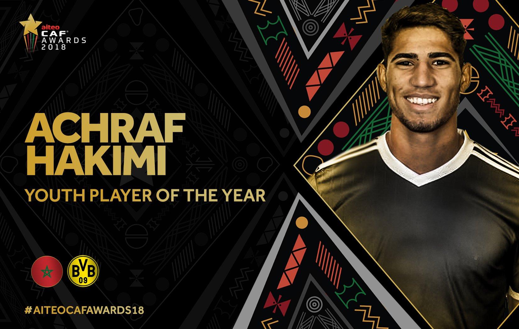 非足联颁奖:萨拉赫夺最佳球员, 哈基米当选最佳年轻球员