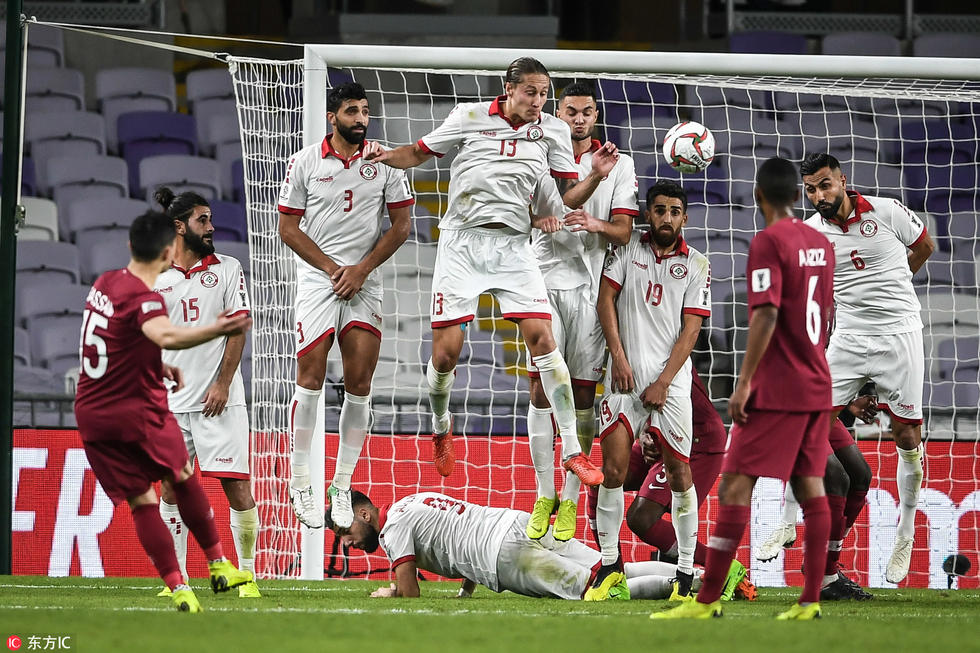 亚洲杯:哈马姆进球无效巴萨姆圆月弯刀,卡塔尔2-0黎巴嫩